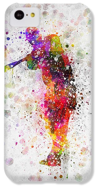Baseball Player - Taking A Swing IPhone 5c Case by Aged Pixel
