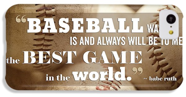 Baseball Print With Babe Ruth Quotation IPhone 5c Case