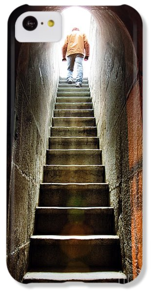 Dungeon iPhone 5c Case - Basement Exit by Carlos Caetano