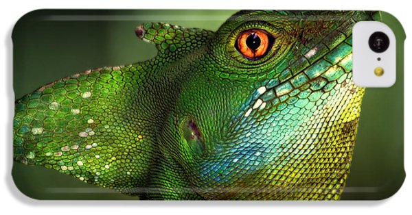 Dragon iPhone 5c Case - Basilisca Verde by Jimmy Hoffman