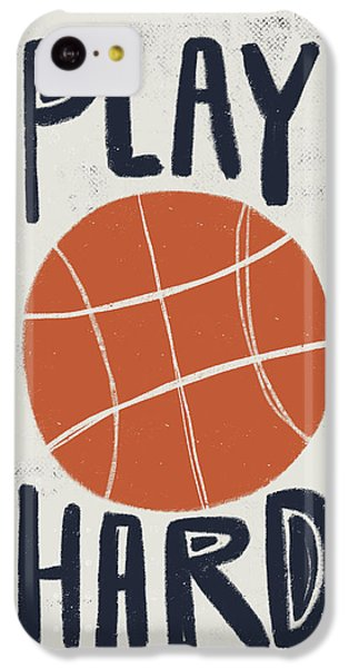 Basketball IPhone 5c Case by Katie Doucette