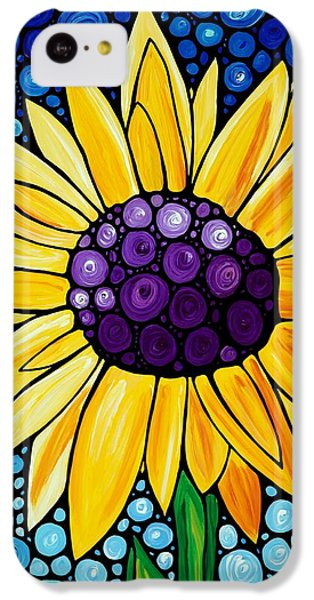 Sunflower iPhone 5c Case - Basking In The Glory by Sharon Cummings