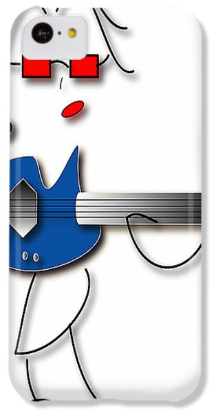 IPhone 5c Case featuring the digital art Bass Guitar Girl by Marvin Blaine