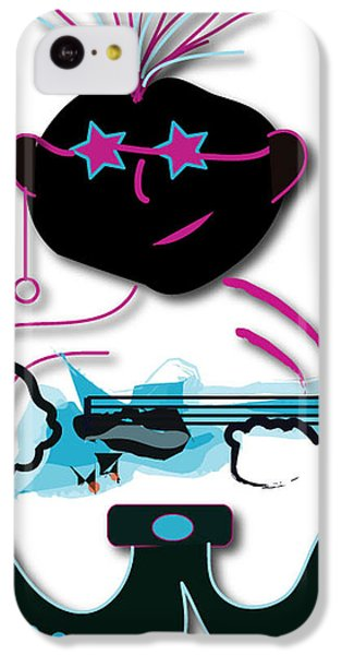 IPhone 5c Case featuring the digital art Bass Man by Marvin Blaine