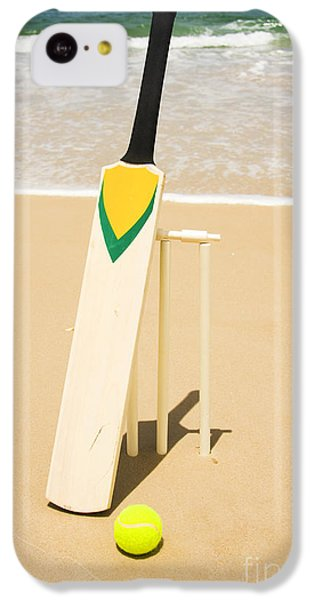 Bat Ball And Stumps IPhone 5c Case by Jorgo Photography - Wall Art Gallery