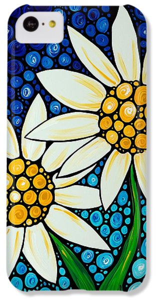 Bathing Beauties - Daisy Art By Sharon Cummings IPhone 5c Case by Sharon Cummings