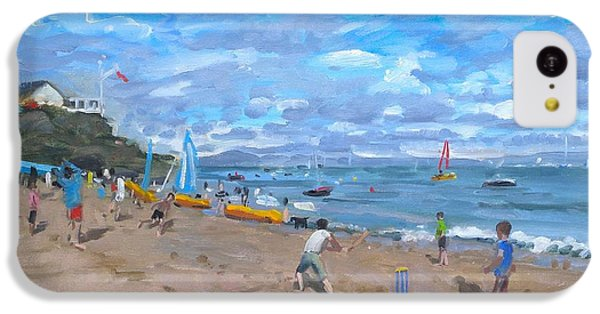 Cricket iPhone 5c Case - Beach Cricket by Andrew Macara