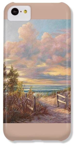 Beach Sunset iPhone 5c Case - Beach Walk by Lucie Bilodeau