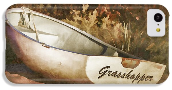 Grasshopper iPhone 5c Case - Beached Rowboat by Carol Leigh