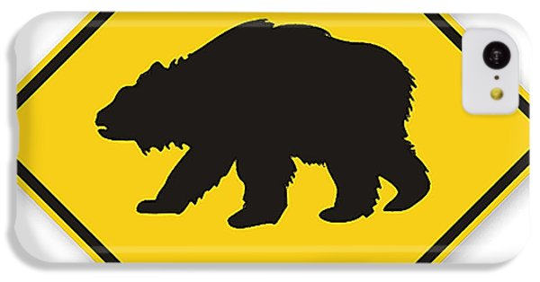 Bear Crossing Sign IPhone 5c Case