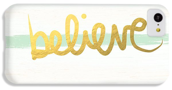 Believe In Mint And Gold IPhone 5c Case