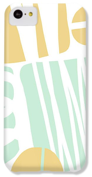Bento 1- Abstract Shape Painting IPhone 5c Case by Linda Woods