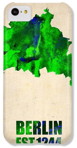 Berlin Watercolor Map IPhone 5c Case by Naxart Studio