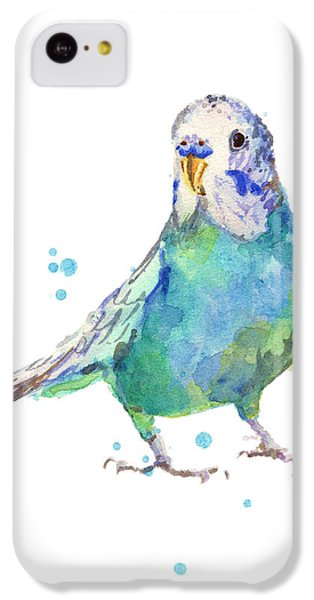 Bertie Wonderblue The Budgie IPhone 5c Case by Alison Fennell