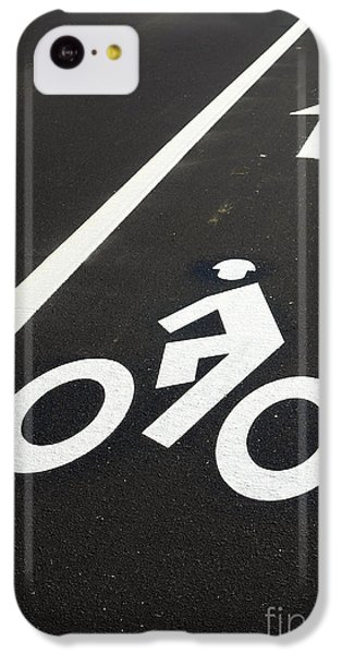 Bicycle iPhone 5c Case - Bicycle Lane by Olivier Le Queinec