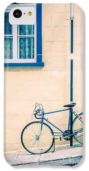 Bicycle iPhone 5c Case - Bicycle On The Streets Of Old Quebec City by Edward Fielding