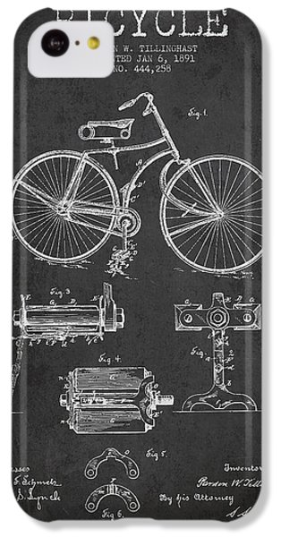 Bicycle iPhone 5c Case - Bicycle Patent Drawing From 1891 by Aged Pixel