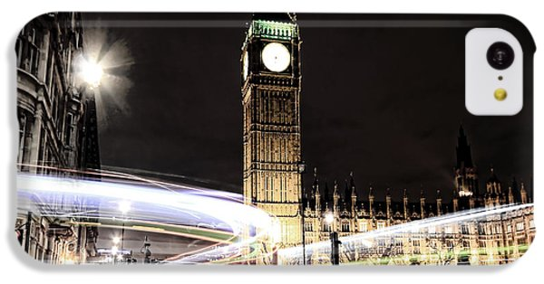 Big Ben With Light Trails IPhone 5c Case by Jasna Buncic