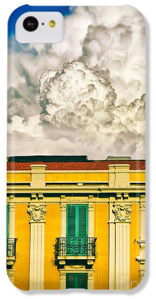 IPhone 5c Case featuring the photograph Big Cloud Over City Building by Silvia Ganora