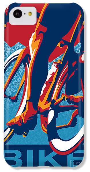 Bicycle iPhone 5c Case - Bike Hard by Sassan Filsoof