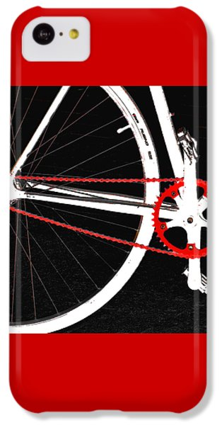 Bicycle iPhone 5c Case - Bike In Black White And Red No 2 by Ben and Raisa Gertsberg