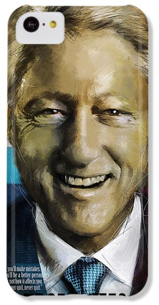 Bill Clinton IPhone 5c Case by Corporate Art Task Force