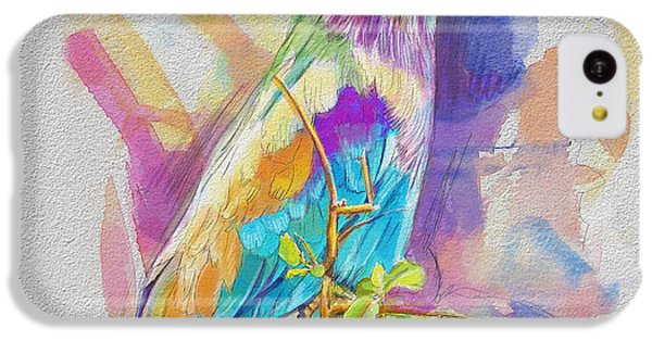 Parakeet iPhone 5c Case - Bird On A Twig by Catf