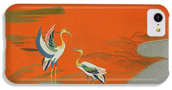 Birds At Sunset On The Lake IPhone 5c Case by Kamisaka Sekka