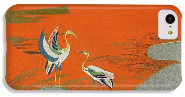 Birds At Sunset On The Lake IPhone 5c Case by Kamisaka Sekka