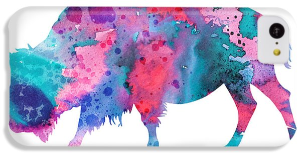 Bison 2 IPhone 5c Case by Watercolor Girl