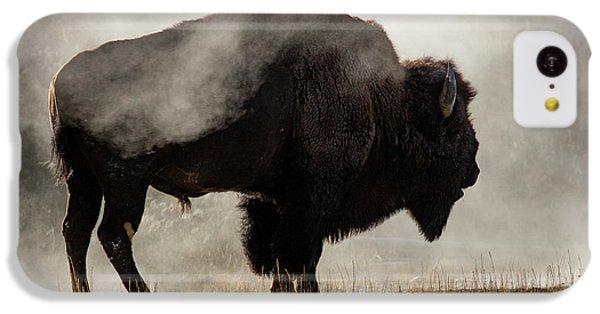 Bison In Mist, Upper Geyser Basin IPhone 5c Case