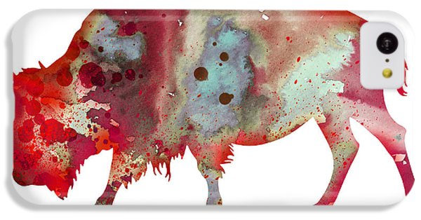 Bison IPhone 5c Case by Watercolor Girl