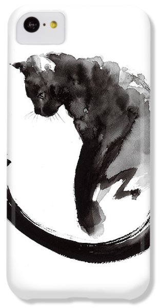 Cat iPhone 5c Case - Black Cat by Mariusz Szmerdt