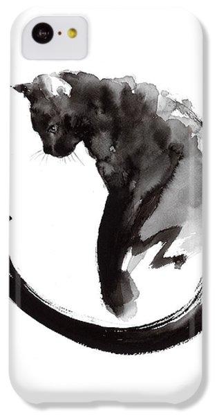 Black Cat IPhone 5c Case by Mariusz Szmerdt