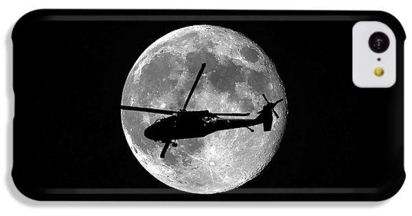 Helicopter iPhone 5c Case - Black Hawk Moon by Al Powell Photography USA