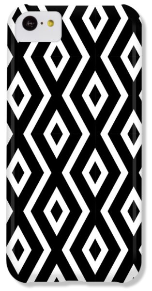 Black And White Pattern IPhone 5c Case by Christina Rollo