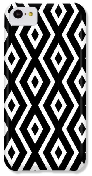 Beach iPhone 5c Case - Black And White Pattern by Christina Rollo