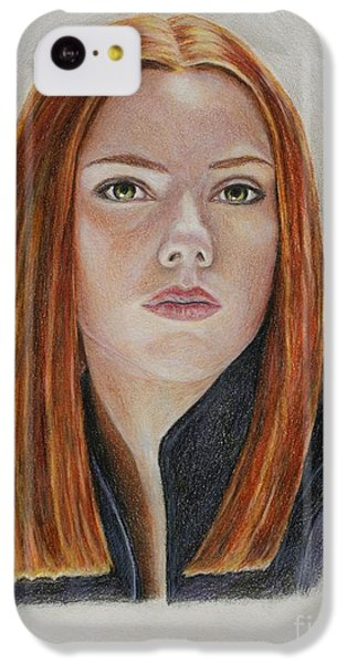 Scarlett Johansson iPhone 5c Case - Black Widow by Christine Jepsen