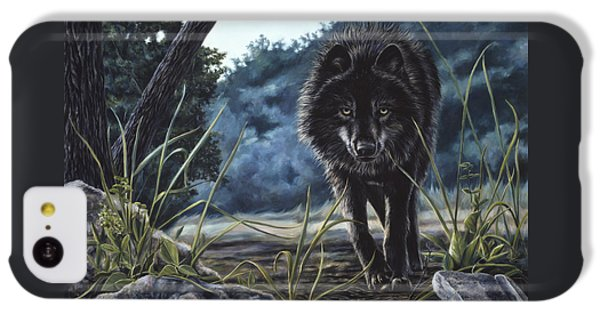 Black Wolf Hunting IPhone 5c Case