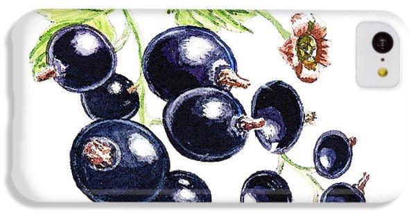 IPhone 5c Case featuring the painting Blackcurrant Berries  by Irina Sztukowski