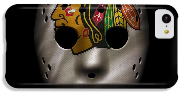 Blackhawks Jersey Mask IPhone 5c Case by Joe Hamilton