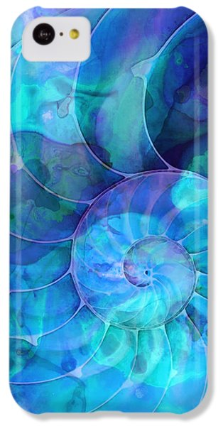 Miami iPhone 5c Case - Blue Nautilus Shell By Sharon Cummings by Sharon Cummings