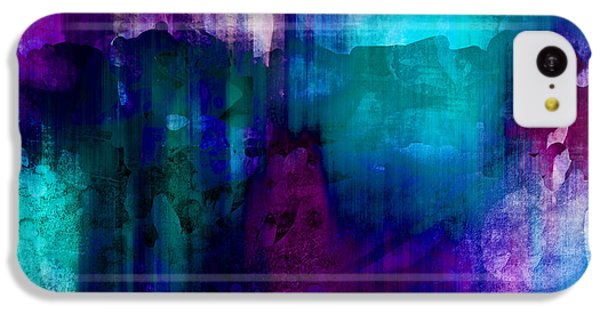 Blue Rain  Abstract Art   IPhone 5c Case by Ann Powell