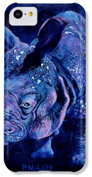 Indian Rhino - Blue IPhone 5c Case