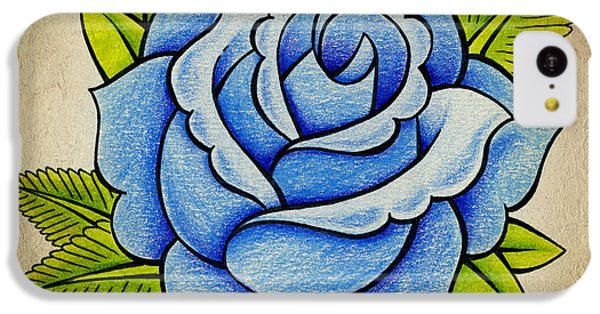 Blue Rose IPhone 5c Case by Samuel Whitton