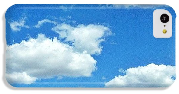 Sunny iPhone 5c Case - Blue Sky And White Clouds by Anna Porter