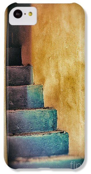 Blue Stairs - Yellow Wall    IPhone 5c Case by Silvia Ganora