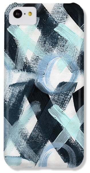 Valentines Day iPhone 5c Case - Blue Valentine- Abstract Painting by Linda Woods