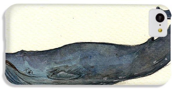 Blue Whale IPhone 5c Case by Juan  Bosco