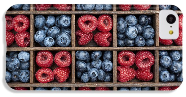 Blueberries And Raspberries  IPhone 5c Case by Tim Gainey
